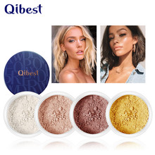 Face Matte Loose Powder Oil Control Waterproof 10 Colors Makeup Natual Translucent Finish Setting Mineral with Puff
