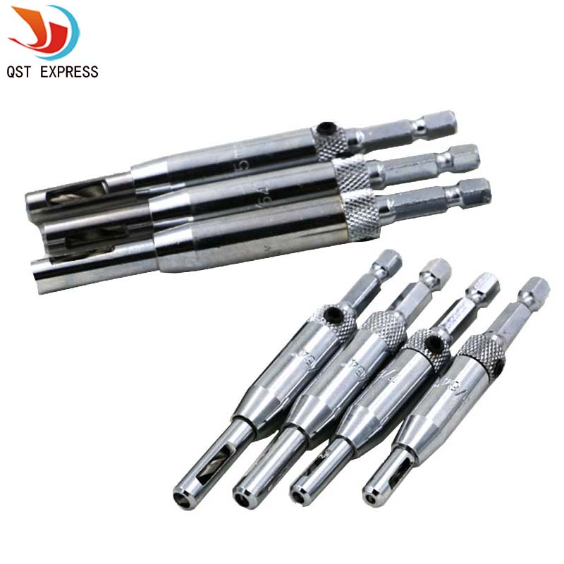 Professional 7Pcs Door Window Cabinet Hinge Self Centering Drill Bits Set HSS Wood Tool Hole Saw Repair