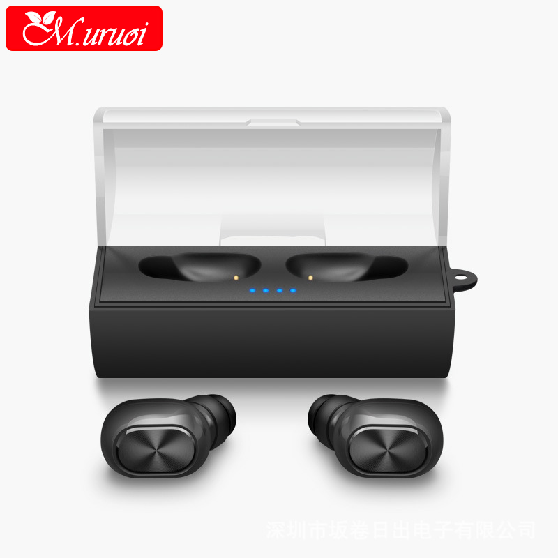 M.uruoi Bluetooth 4.1 Headset True Wireless Headsets HD Stereo Mini Wireless Earbuds with Portable Charger for Smartphones hlton portable wireless bluetooth earphone handsfree mini headset stereo earbuds car fast charger with mic for smartphone pc