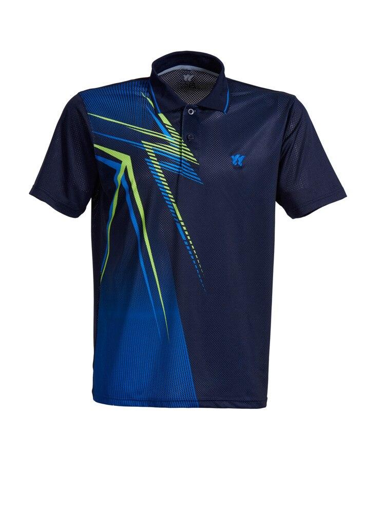 Бадминтон рубашка Для мужчин/Для женщин, настольный теннис футболки, теннис одежда сухой-cool Джерси, пинг-Понг футболка-поло бадминтон, школа...