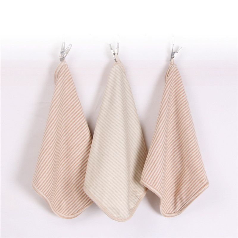 2 Pcs Colored Cotton Baby Hand Towels Newborn Face Towel Wipe Washcloths for Infant,30*30cm