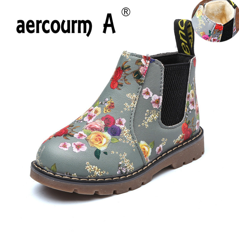 Aercourm A 2019 Kids Chelsea Boots Ankle Retro Girls boots PU Leather Martin Boys Boots Kids Boots Plush Children Shoes 21-36Aercourm A 2019 Kids Chelsea Boots Ankle Retro Girls boots PU Leather Martin Boys Boots Kids Boots Plush Children Shoes 21-36