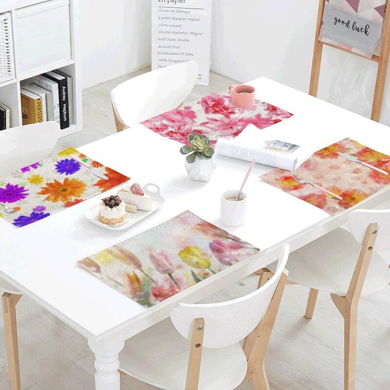 Kitchen Art 32cm: Wholesale 42x32cm Linen Tablecloth Colorful Flower Kitchen