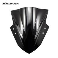 MALUOKASA Motocicleta Bolha Dupla Windscreen Windshield Defletor Para Kawasaki Ninja 300 EX300 2013 2014 2015 Frete Grátis