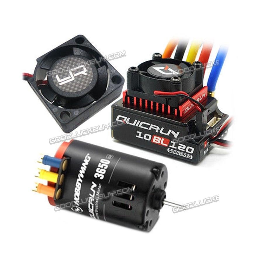 Hobbywing QuicRun sans balai 10BL120 120A ESC 8.5 T moteur YR ventilateur Combo