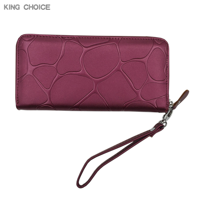 Fashion Women Leather Wallet Female Long Card Holder Big Stone Wallets Casual Clutch Zipper Coin Purse joypessie solid color wallet card holder coin purse pockets girls clutch hot women wallets stone fashion women wallets