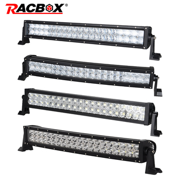 3D 5D Dual Row 120w 20 22 inch Curved Straight Offroad LED Light Bar Work Lamp For JEEP ATV SUV Automobile Truck Combo Beam 12V