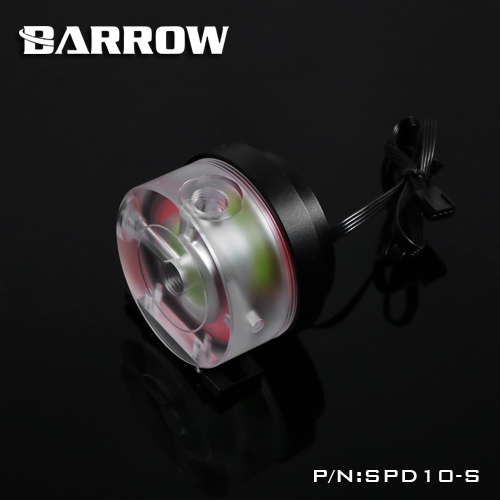 Barrow DDC PWM Pump 10W Maximum Flow Lift 3 Meters 450L/H Manual Speed Regulation Max 4000rpm Acrylic Cover Pump ice ddc 3 2 high raise large flow pump full metal 18w
