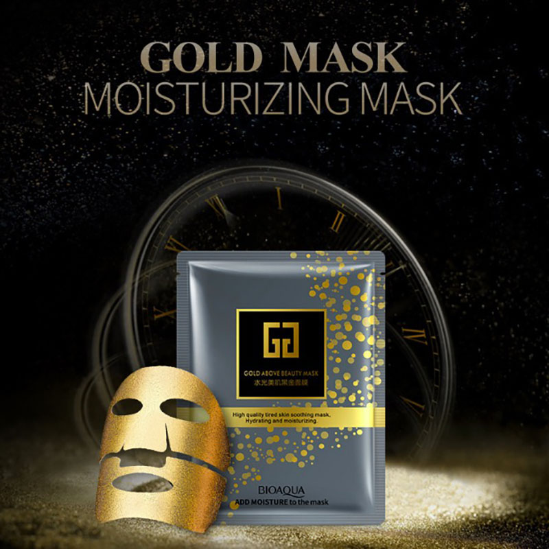 24K Gold Collagen Face Mask Hyaluronic Acid Facial Masks Moisturizing Whitening Anti-aging Skin Care Korean Cosmetics Mask