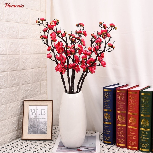 Artificial Plum Blossom Fl Arrangement Cherry Blossoms Home Decoration Wedding Fake Flowers Arreglos Fles Artifical P35