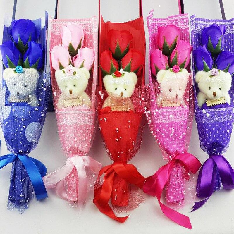Творческий Роуз Мыло Цветок с - Товары для праздников и вечеринок