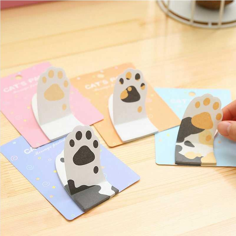 NOVERTY Cute kawaii Cat Claw memo pad sticky notes paper sticker for kids Stationery Office accessories School supplies 01901