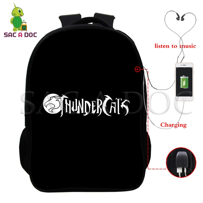 Anime Thundercats Multifunction Backpack Women Men USB Charging School Laptop Backpack for Teenagers Students Travel BagsAnime Thundercats Multifunction Backpack Women Men USB Charging School Laptop Backpack for Teenagers Students Travel Bags
