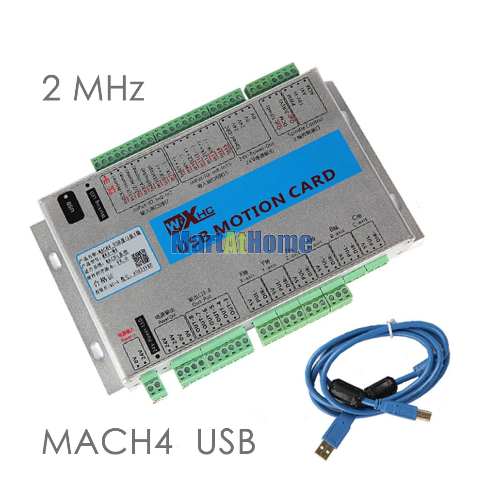 USB 2MHz Mach4 CNC 4 Axis Motion Control Card Breakout Board MK4-M4 for Lathes, Machine Centre, CNC Engraving Machine #SM781 @SD 4 axis usb mach3 motion control card four axis breakout interface board for cnc machine