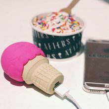 French fries Ice cream Pizza Unicorn Power Bank Phone Charge for All Phone Unicorn Emoji PowerBank Charger Cartoon USB Battery