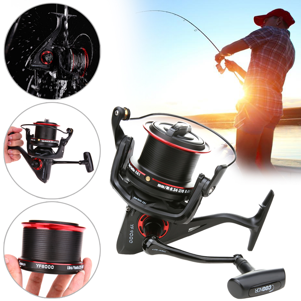 Distant Wheel  12+1BB 4.6:1 8000/9000 Series Metal Spool Carp Fishing Reels Coil Wheel Handle Fishing Reel Tackle Long Shot Reel our distant cousins