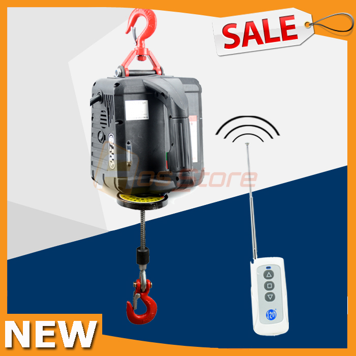 NEW Portable Electric Winch with wireless remote Hand Winch Traction Block Electric Steel Wire Rope Hoist