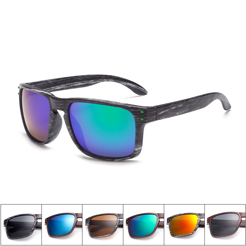 ASUOP New Fashion Herren Sonnenbrille klassisches Markendesign Holzimitat quadratische Damenbrille UV400 Retro Fahrbrille