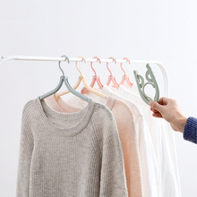 Folding Clothes Hanger Clothes Drying Rack Multifunction Clothing Hanger Travel Wardrobe Underwear Coat Hanger Storage Rack
