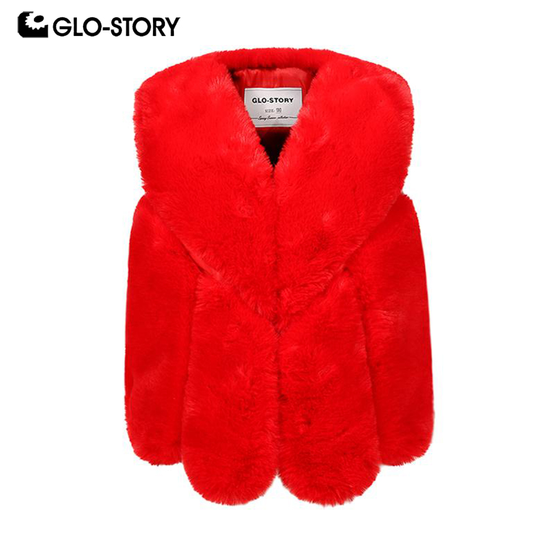 GLO-STORY Ship From Hungary Teenage Kids Girls 2018 Fashion Streetwear Sleeveless Faux Fur Vest Coats Children Clothing 7507