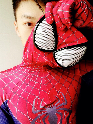 Высококачественный полный костюм Spider man, включает в себя обувь и балаклаву с очками.