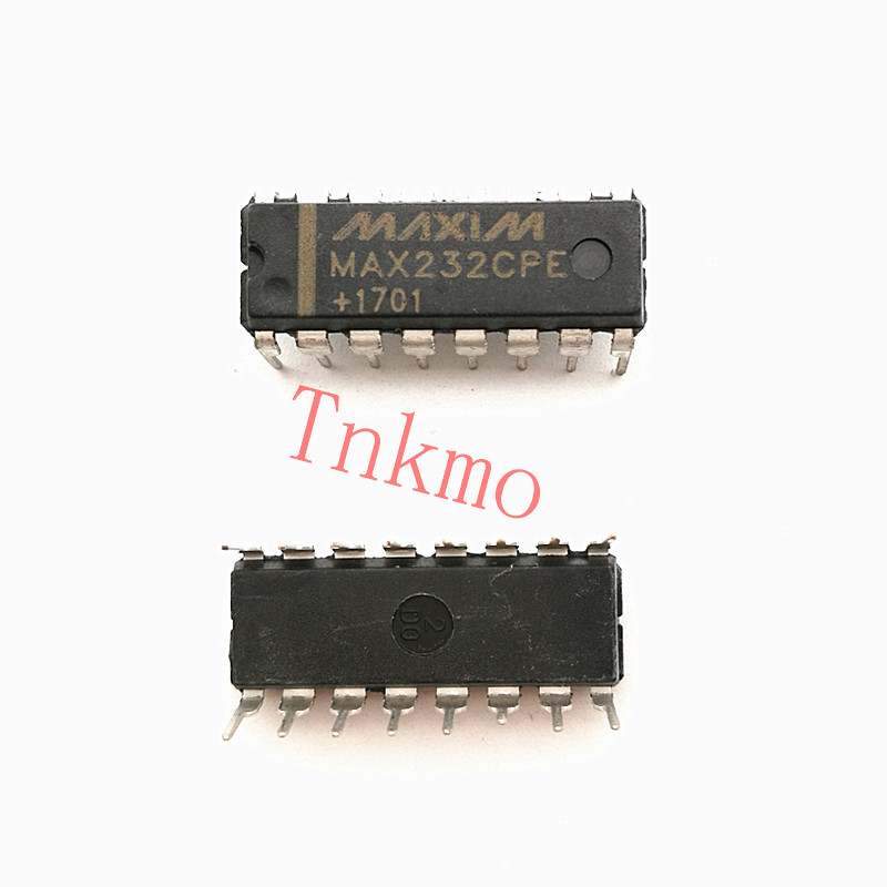 100PCS MAX232CPE MAX232 DIP IC 2DVR/2RCVR RS232 5V