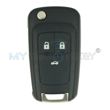 Flip remote car key for Chevrolet Aveo Cruze Orlando 2011 2012 2013 HU100 434 Mhz electronic 46 Chip 3 button remtekey