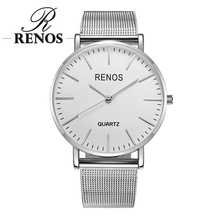 RENOS Women Watch With Box Alloy Band Strap Analog Quartz Wristwatches Fashion Casual Lover Couple Watches Ladies montre femme