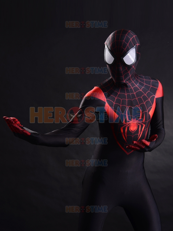 Red Miles Spider-man Costume 3D Print Spandex Adult Anime Spiderman Cosplay Zentai Body Suit Superhero Catsuit Free Shipping