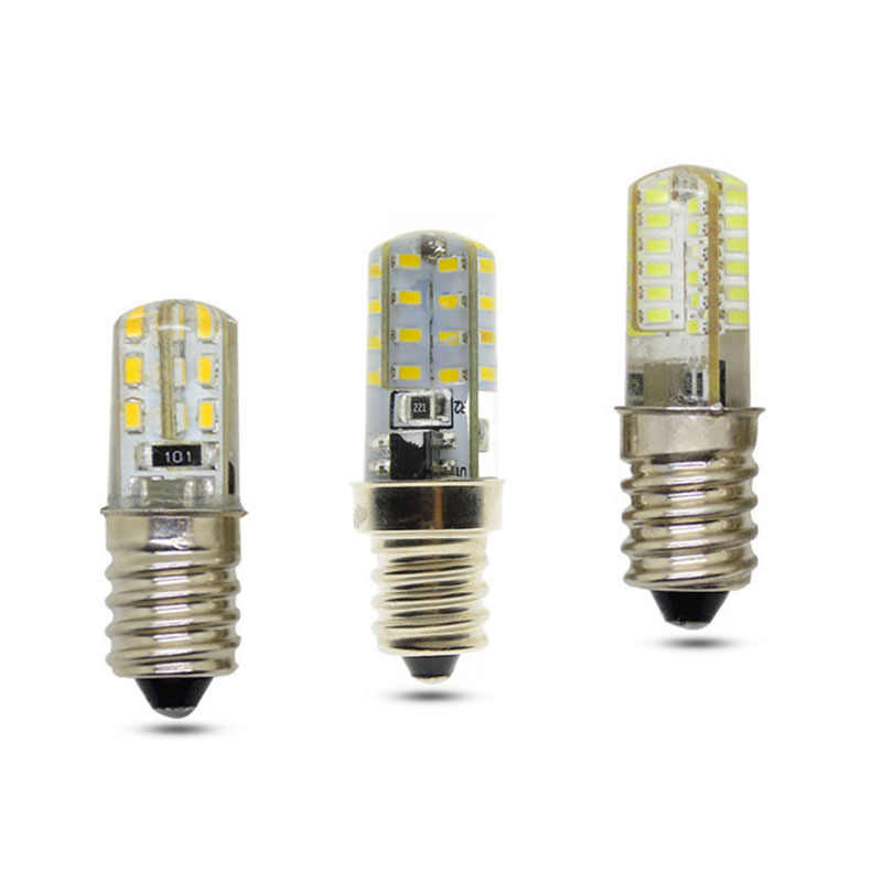 E12  LED Bulb Corn Light 3W 5W 7W 24LEDs 32LEDs 48LEDs Silicone Lamp 3014 SMD AC 220V Chandelier Replace The Halogen Lamps