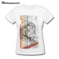 Women Horse T Shirts Fashion Short Sleeve 100 Cotton T Shirt Brand Clothes Tee Top For