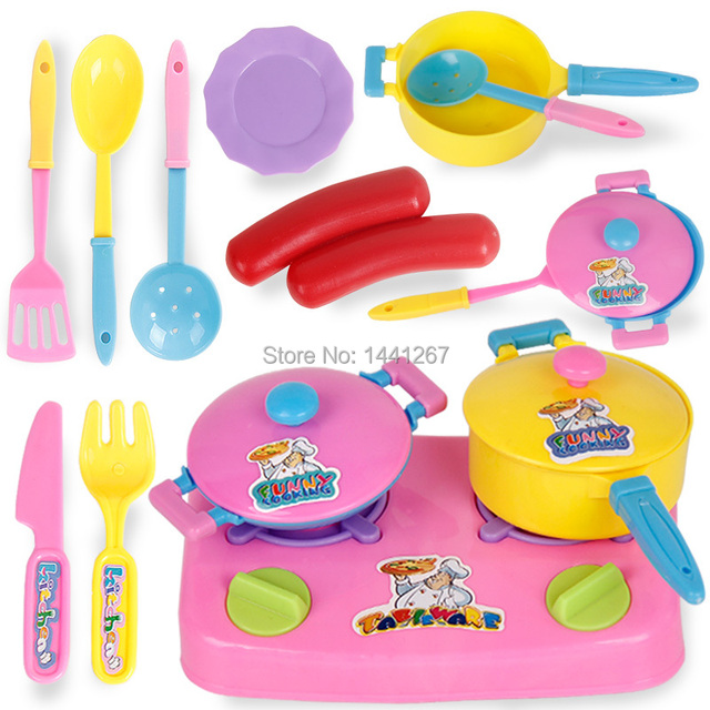 Pretend Play Kitchen Toy Set Children House Toys Baby Utensils For