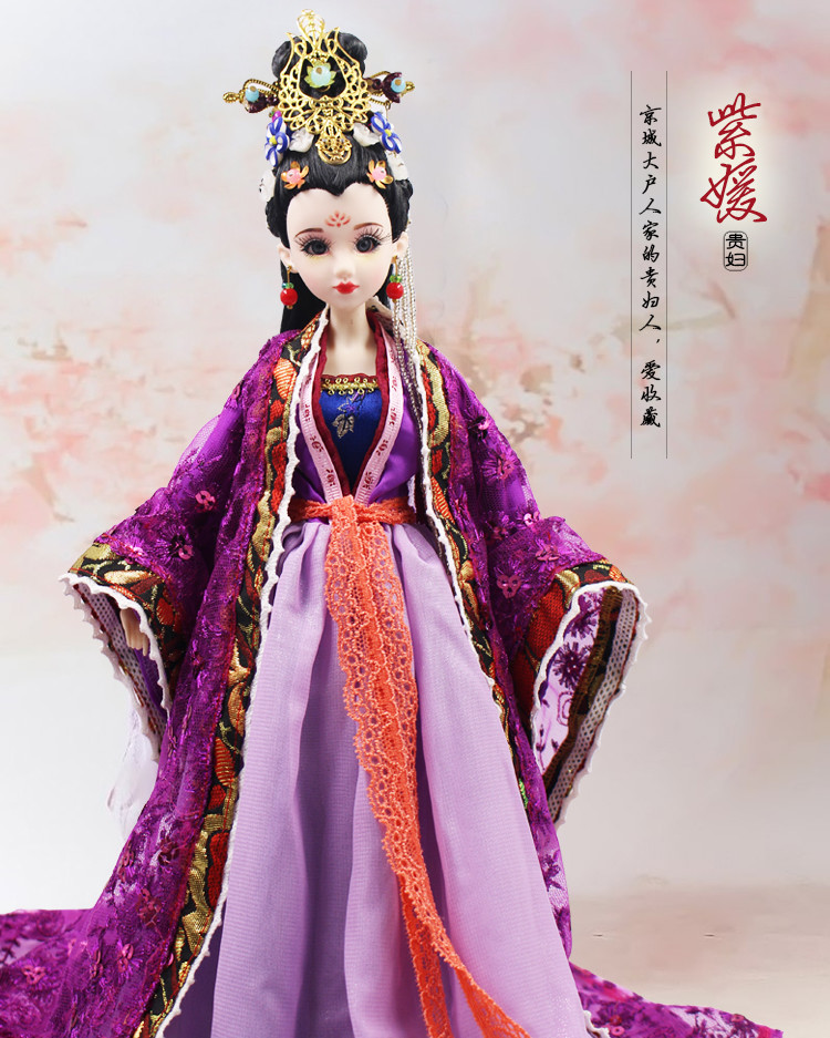 35CM Handmade Ancient Chinese Dolls With 3D Realistic Eyes Joint Body Collectible Traditional Chinese BJD Doll Toys For Girls tang dynasty shangguan wan er 12jointed doll 31cm high end handmade chinese costume dolls limited collection bjd 1 6 moveable