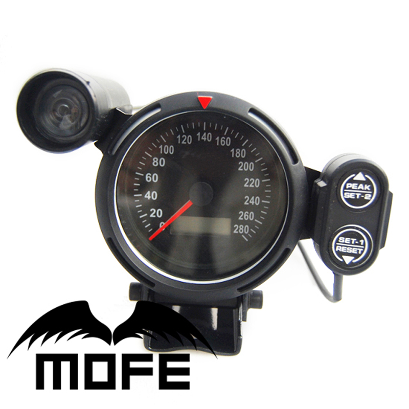 Auto Meter Electronic Speedometers : Original logo white led mm digital odometer speedometer