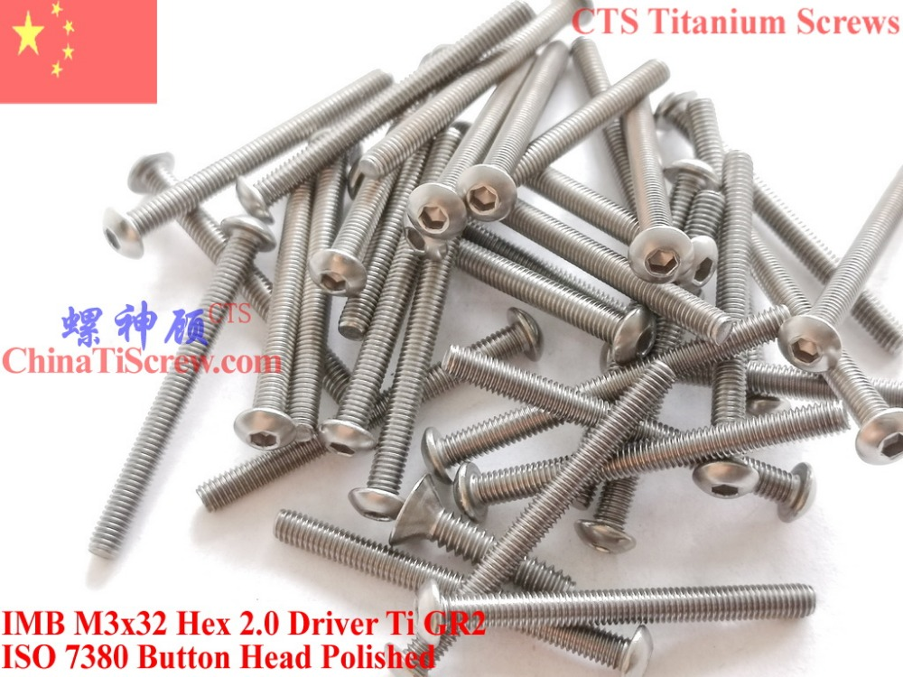 Titan-Schrauben M3x18 Senkkopf DIN7991 Innensechskant Schraube titanium screw