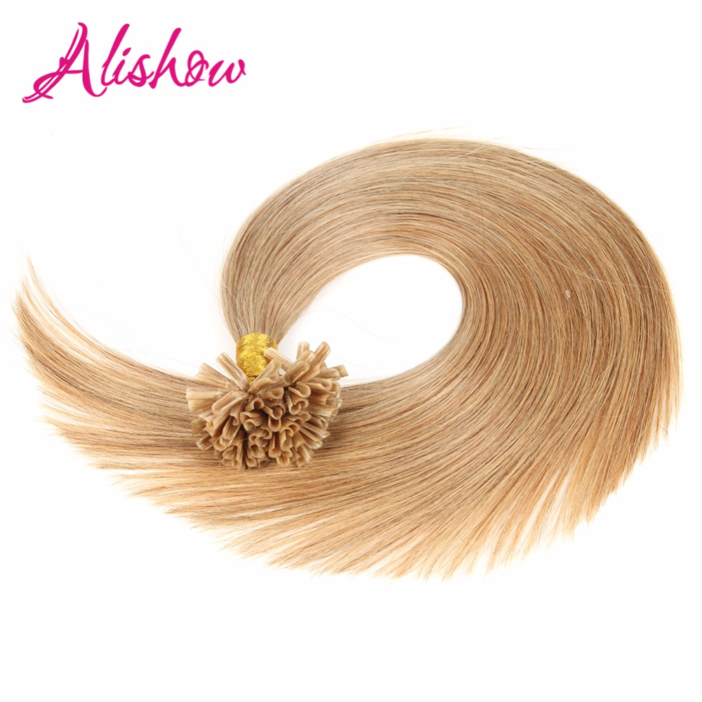 Alishow 05gs Double Drawn Pre Bonded U Tip Hair Extension 100