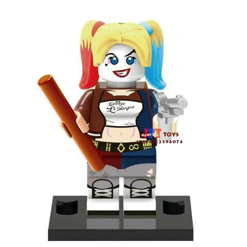50pcs superhero Harley Quinn movie building blocks bricks friends for girl boy kids children toys brinquedos