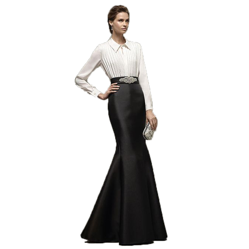 Formal Black Mermaid Long Skirt High Waist Fashion Women Evening Party Skirts Customized Adult Maxi Skirt Any Color Free
