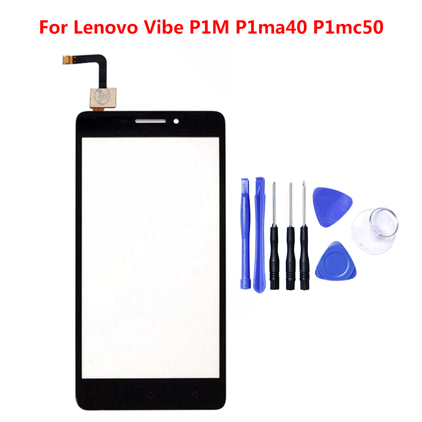 For Lenovo Vibe P1M <font><b>P1ma40</b></font> Touch Screen Glass Digitizer Panel Front Glass Sensor Tools Adhesive + Tools Gift image