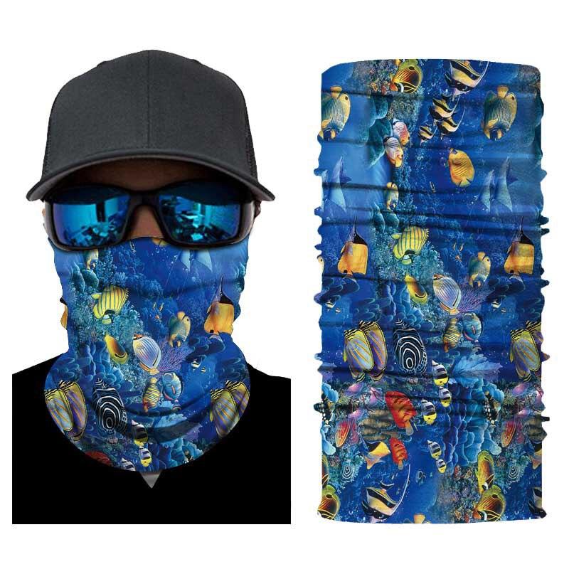 Headwear Bandana 3D Animal Face Mask Neck Gaiter Ghost Shield Bicycle Ski Skull Half Scarf  Motor Anti