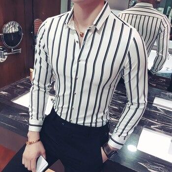 Camisa de hombre YC005 * 2017 nueva camisa de ocio de invierno camisa de manga de hombre de metrosexual camisa masculina P50.