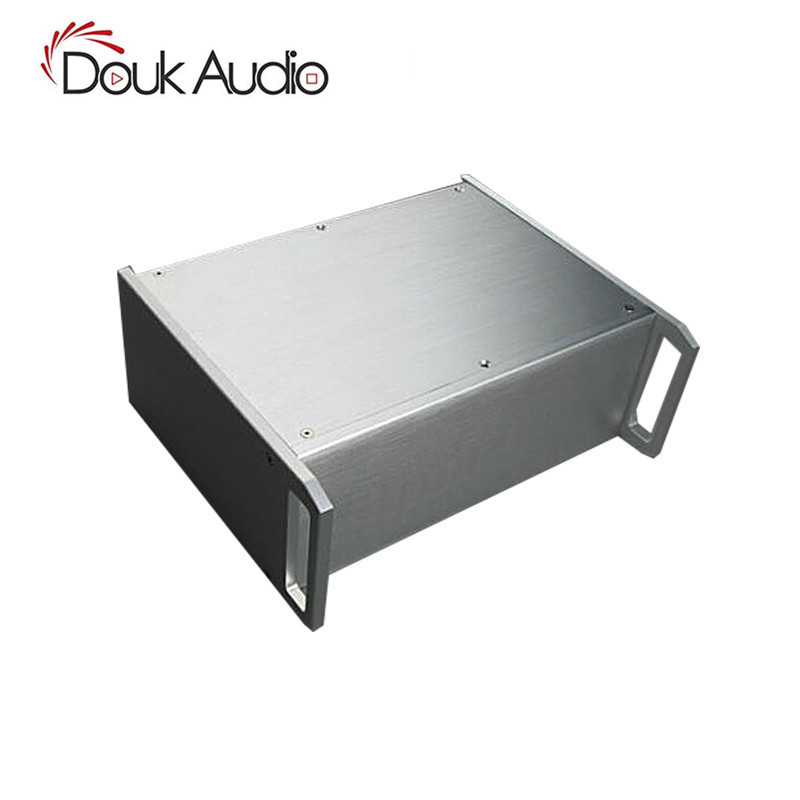 Nobsound Aluminum Chassis with Handles For Power Amplifier /DAC /Pre-Amp W320*H120*D265mm nobsound hi end audio noise power filter ac line conditioner power purifier universal sockets full aluminum chassis