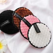 4 шт. подушечки из микрофибры для макияжа лица спонж для снятия очищающее полотенце для лица многоразовые хлопковые двухслойные чистящие салфетки для ногтей