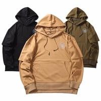 New Brand Very Good Quality Nice Hip Hop Hoodies With Fleece WARM Winter Mens Kanye West