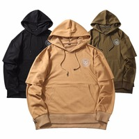 New Brand Very Good Quality Nice Hip Hop Hoodies With Fleece WARM Winter Mens Kanye West