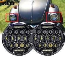 Yait 75 Вт 7 дюймовый круглый светодиодный фар для Nissan Patrol Y60 Hummer H1& H2 патруль Y60 для Jeep Wrangler LJ Приглашаем посетить наших заказчиков выставку CJ 2D 4D 7 дюймовый светодиодный