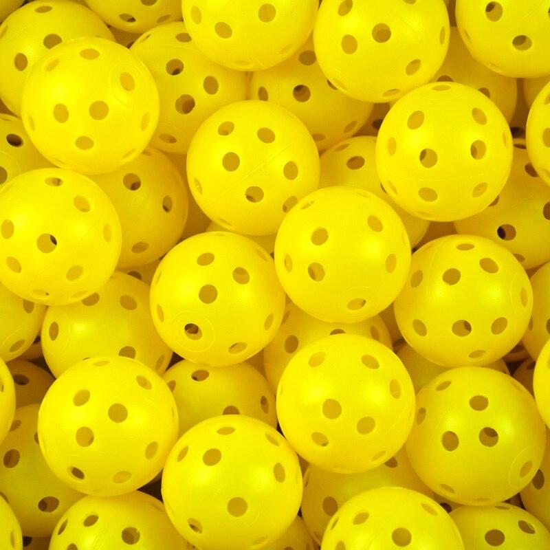 Golf hollow ball training New 6Pcs/lot Plastic Whiffle Airflow Hollow Golf Practice Training Sports Balls Free Shipping