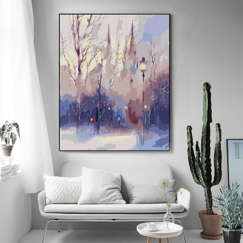 paint by number art painting by numbers abstract art creative landscape living room room restaurant decorative painting