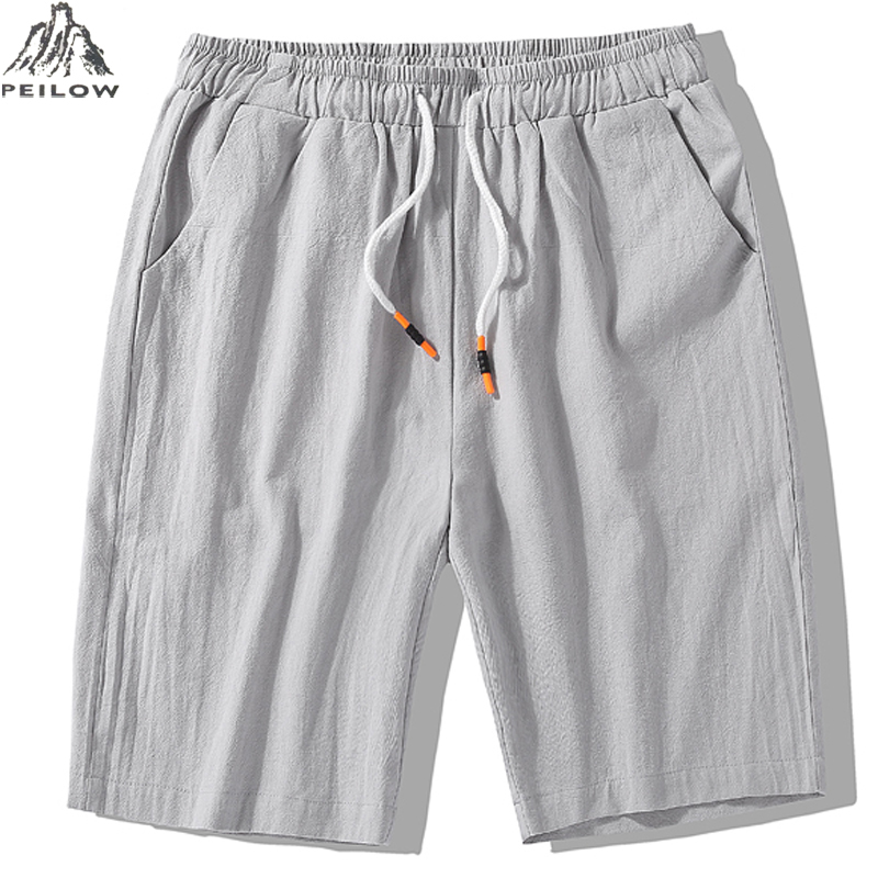 PEILOW Summer Men Beach   Shorts   Brand Quick Drying Breathable Trouser Casual cotton   Shorts   Outwear male clothing Size L~7XL 8XL