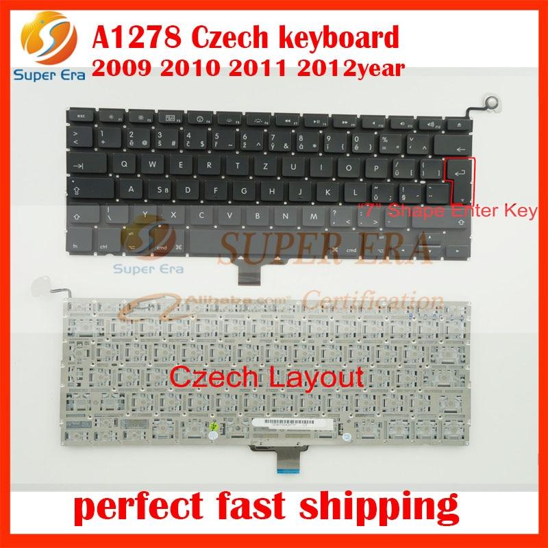 10pcs lot Czech keyboard for font b macbook b font pro 13 3 A1278 Czech keyboard
